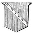 riband has a diminutive bend vintage vector image vector image