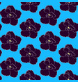 seamless floral pattern with dark purple vector image
