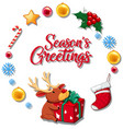 season greetings concept card vector image