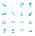 Set of 16 editable equipment outline icons vector image