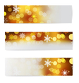 Set of christmas horizontal banners vector image vector image
