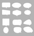 speech bubble icon on gray background flat style vector image vector image