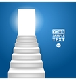 Staircase to up conceptual background to vector image vector image