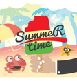 Summer Time Concept Banner vector image vector image
