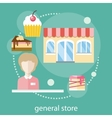 Sweet store concept vector image vector image