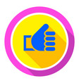 thumbs up bright color vector image vector image