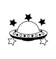 unidentified flying object with stars vector image