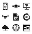 user interface icons set simple style vector image vector image