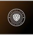 vintage retro hop beer brewing brew brewery label vector image vector image