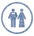 wedding persons rounded fabric textured icon vector image vector image