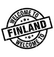 welcome to finland black stamp vector image vector image
