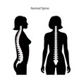 woman healthy spine
