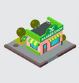 barber shop isometric city street building vector image
