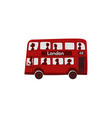 red cartoon london english double-decker bus vector image