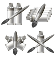 Set of Different Grey Paint Icon vector image
