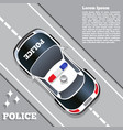 a police car on road vector image vector image