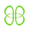 abstract butterfly line symbol graphic vector image vector image