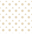 abstract gold hexagon triangle white pattern vector image vector image