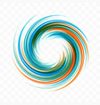abstract swirl design element spiral rotation vector image