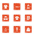 advertising space icons set grunge style vector image vector image