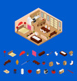 apartment japanese style interior with furniture vector image