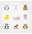 Baby toys Cute little animals vector image vector image
