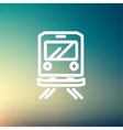 Back view of the train thin line icon vector image