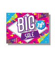 big sale poster memphis tyle vector image