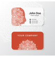 business name card template design vector image vector image