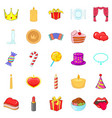 buster icons set cartoon style vector image vector image