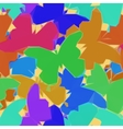 Butterflies Low Poly Pattern vector image vector image