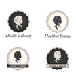 Cameo logo with scallop frame and text vector image vector image