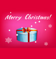 card with gift box and letting merry christmas vector image vector image