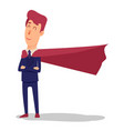 cartoon successful businesman superhero in suit vector image vector image