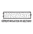 cement and plaster in section material symbol vector image vector image