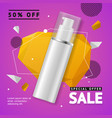 cosmetic bottle sale banner banner card vector image vector image