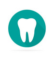 dental tooth logo in flat with shadow vector image