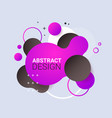 dynamical colored form gradient abstract banner vector image vector image