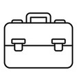 finance leather bag icon outline style vector image vector image