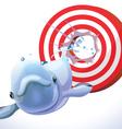 fish hit target vector image vector image
