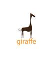 funny giraffe design template vector image