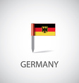 germany flag pin vector image vector image