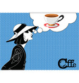 Girl coffee vector image vector image