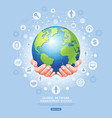 global network management system conceptual earth vector image