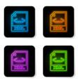 glowing neon xml file document icon download xml vector image