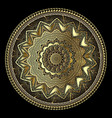 gold lacy greek 3d mandala pattern round lace vector image vector image