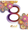 gold metal happy women s day 8 march trendy vector image