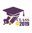 graduation isolated greeting icon or logo vector image vector image
