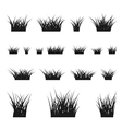Grass bushes set vector image