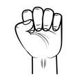 hand fist raised up vector image